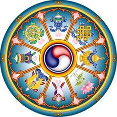 Os oito símbolos auspiciosos do budismo | Sobre Budismo                                                                                                                                                     Mais