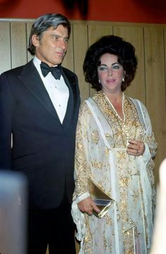 Elizabeth Taylor husband, Senator John Warner......Uploaded By  www.1stand2ndtimearound.etsy.com