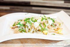 Gebratener Fenchel-Salat mit Sesam und Ei   lecker macht laune