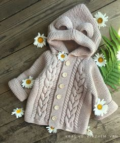 No photo description available. Easy Knit Baby Blanket, Knitted Baby Blankets, Baby Knitting Patterns, Crochet Patterns, Baby Cardigan, Handmade Home, Crochet Yarn, Paper Crafts, Children