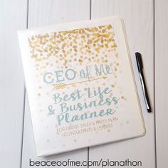 2016 Business Planner - this is a free printable from CEOofMe. I'm taking this free course and it's excellent!!