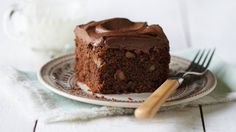 "A classic recipe from the 1976 edition of ""Betty Crocker's Cookbook,"" this one-bowl chocolate cake is sized right for small families."