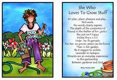 She who loves to grow stuff - Suzy Toronto