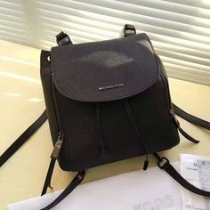 46384e9adb5f MICHAEL Michael Kors Viv Leather Backpack Black