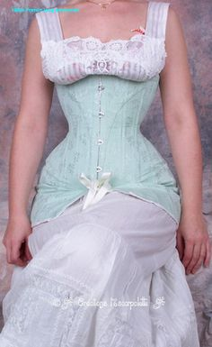 1900 french long edwardian french corset maker Les Carpolette (sp?)