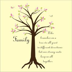 tree art | Colourful Family Tree wall sticker - Vinyl Art SA