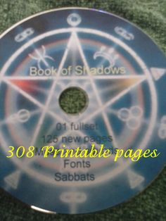 Book of Shadows CD 308 Printable pages PDF by DivineEnchantment21