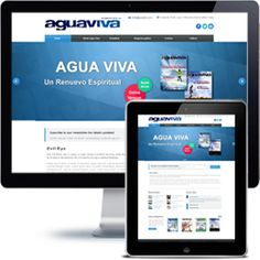 Revista AguaViva Company website built with Wordpress using responsive web design.