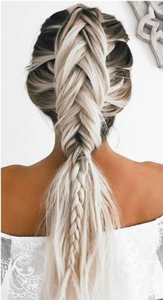 A stunning unique braid. #wedding #weddinghairstyle #bride #bridehair #luxury #glamour #luxurywedding #luxbride