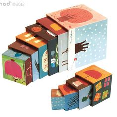Janod Pyramide Quatre Saisons de Janod/Janod Four Seasons Pyramid Stacking Blocks, Stacking Toys, Montessori Materials, Montessori Toys, Montessori Classroom, Cubes, Blocks For Toddlers, Green Toys, Les Themes