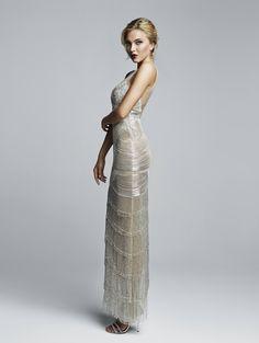 Silver tasseled dress 2