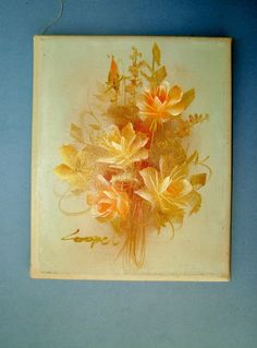 Vintage 1980s Still Life Painting of Golden by QueensParkVintage, $45.00