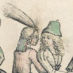 detail from 'Krönchenstechen', after 1480, Housebook Master of castle Wolfegg, South Germany