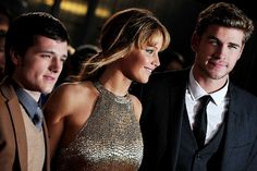 Josh, Jennifer, and Liam. The Hunger Games, Jogos Vorazes Premiere