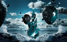 awesome guitar nature 3d backgrounds