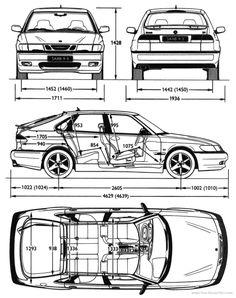 The '99 Saab 9-3 Aero Blueprints