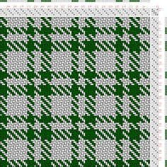 Hand Weaving Draft: Figure 1732, A Handbook of Weaves by G. H. Oelsner, 4S, 4T - Handweaving.net Hand Weaving and Draft Archive