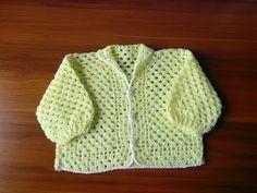 suéter de bebé desde recién nacido a 1 año de edad parte 2 - YouTube