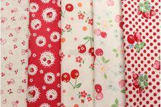 Small pieces of fabrics - Fruits -1  by Atsuko Matsuyama and Lecien