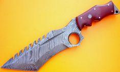 CUSTOM HANDMADE DAMASCUS  HUNTING KNIFE / TRACKER / BUSHCRAFT  / TANTO / MICHATE #HandMade