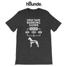 798fdd17 Men's 'Great Dane Barking Guide' - 14 colors! - Funny Cute Great Dane T  Shirt - Gift - Dog Lover - Dog T-Shirt Top Tee