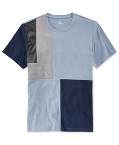 Inc International Concepts Men's Kramer Colorblocked Faux Suede T-Shirt, Only at Macy's T Shirt And Shorts, Mens Tee Shirts, Cool Shirts, Nigerian Men Fashion, Half Shirts, Tee Shirt Designs, Mens Clothing Styles, Stylish Men, Menswear