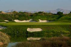 Almuji golf course, Oman Sultana designed by Greg Norman, par 4
