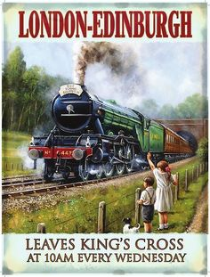 The Flying Scotsman Steam Locomotive LNER Railway Train UK, Large Metal/Tin Sign | eBay