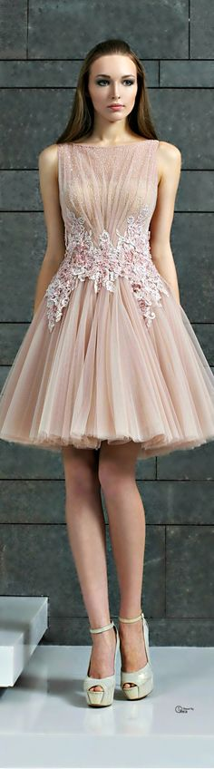 Tony Ward ~ Cocktail Dress, Blush