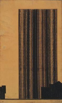 ludwig mies van der rohe: glass skyscraper (1922)
