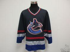 Vtg CCM Vancouver Canucks SEWN Wilbee Hockey Jersey sz XL Extra Large NHL #CCM #VancouverCanucks