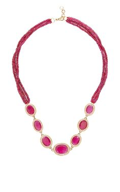 Ruby And Diamond Necklace by Jade Jagger for Preorder on Moda Operandi