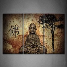 Religion Buddha In Grotto With Chinese Fo Wall Art Painting Pictures Print On Canvas Religion The Picture For Home Modern Decoration *** Want to know more, click on the image.