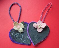 small world land: Mini Chalkboard Heart Messages