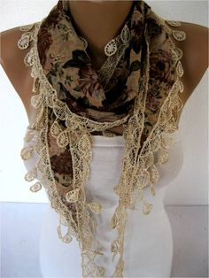 Big SALE 9.90 USD  Scarf women scarves  guipure   by MebaDesign