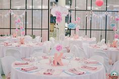 Shabby chic is indeed a popular theme not only for weddings but kids' parties as well. Here we have a shabby chic birthday party designed by Sweet Nest Candy Bu