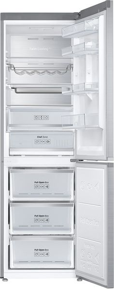 Samsung - Chef Collection 12.2 Cu. Ft. Counter-Depth Refrigerator - Stainless Steel - AlternateView2 Zoom