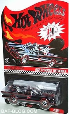 BAT - BLOG : BATMAN TOYS and COLLECTIBLES: EXCLUSIVE 1966 BATMOBILE Hot Wheels Car Avaliable Through Mattel's RED LINE CLUB