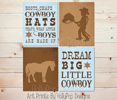 Boots Chaps and Cowboy Hats Toddler boy bedroom by HollyPopDesigns
