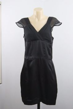 NWT Size M 12 SADIE Ladies Black Dress Gothic Cocktail Wedding Party Chic Design Rock Edgy Timeless Style