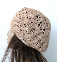 Womans Crochet Hat  Spring Summer  Fashion  chunky   by Ebruk, $30.00