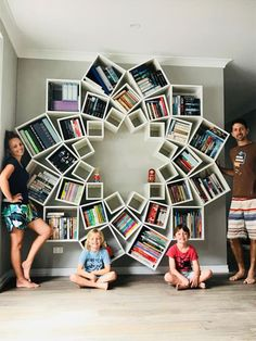 Feast Your Eyes On the Totally Bonkers DIY Bookcase This Couple Made for Their Kids