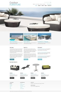 The combination of light blues and white colors has calming effect. Undoubtedly, huge slider is starring in this layout. It demonstrates exclusive designer's outdoor furniture solutions. Informatio...