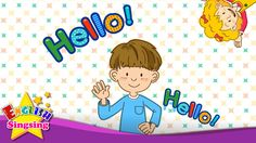 Hello (Character introduction) - Kids English song - Sing a song