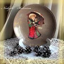 Resultado de imagen para Тарелка декоративная «Чайные розы». Имитация фрески