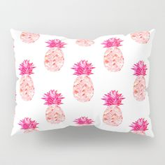 Buy Hala Kahiki Pink Pillow Sham by amayab. Worldwide shipping available at Society6.com. Just one of millions of high quality products available. Watercolor Cactus print tropical inspired @society6 #art #pineapple #pineappleart #pink #watercolor #design #trends2018 #home #decor #artist #pillowsham #bed #bedding
