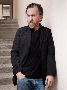 Tim Roth, Cannes 2015, male actor, beard, powerful face, intense eyes, hands, stairs, steps
