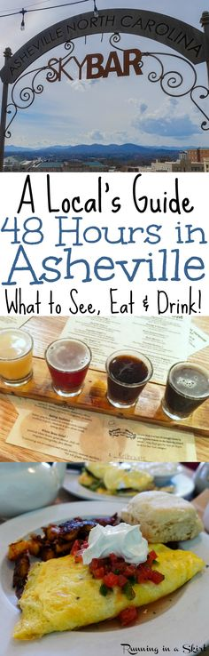 The best itinerary for a weekend or 48 hours in Asheville. Written by a local who's live in this gorgeous mountain town for nearly 15 years! From the best eats, breweries and mountain views. here's how make your quintessential Asheville weekend happen! Ashville North Carolina, Ashville Nc, South Carolina, Weekend Humor, Weekend Trips, Weekend Getaways, Tupelo Honey, Downtown Restaurants, Wanderlust