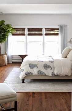 Blue nautical master bedroom - love the paisley bedding eclecticallyvintage.com window idea for master bedroom@cottage