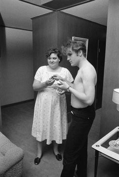 Elvis with his Mother Gladys 1956